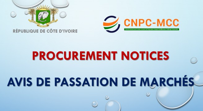 AVIS DE PASSATION DE MARCHES /  PROCUREMENT NOTICES